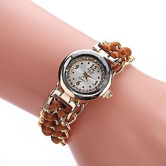 Sloggi 377 Women Knitting Rope Chain Quartz Wrist Watch(Light Brown)