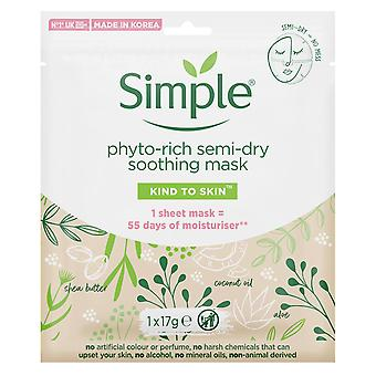 10x Simple Soothing Phyto-Rich Semi-Dry Sheet Mask With Shea Butter&Coconut Oil