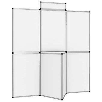 vidaXL 8-panel folding display exhibition wall with table 181×200 cm White