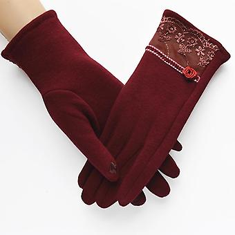Frauen Wollhandschuhe, Winter dicke Damen Wollhandschuhe