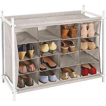 FengChun Schuhregal mit 16 Fchern kompaktes Ordnungssystem fr Garderobe oder Kleiderschrank