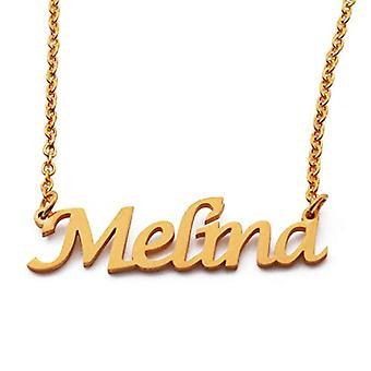 KL Kigu Melina - Vrouwen ketting met naam, naam, modieus juweel, cadeau voor vriendin, moeder, zus