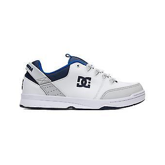 DC syntax sneakers in wit/grijs/blauw