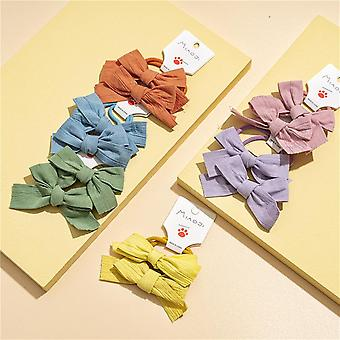 Hair ties for girls, 5pcs cute rubber bands soft elastic ponytail holders cartoon accessories
