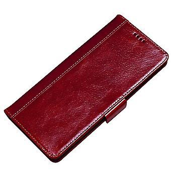 Slot per la custodia del portafoglio in vera pelle per samsung s9plus rosso no3503