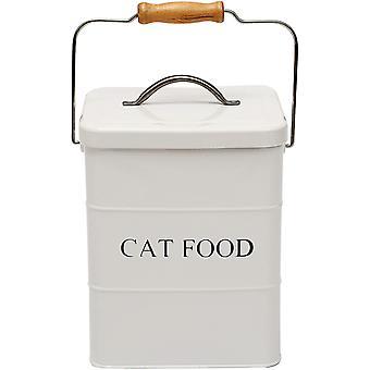 Futtertonnen für Haustierfutter, Vorratsbehälter für Katzefutter mit Deckel und Schaufel, Metall-