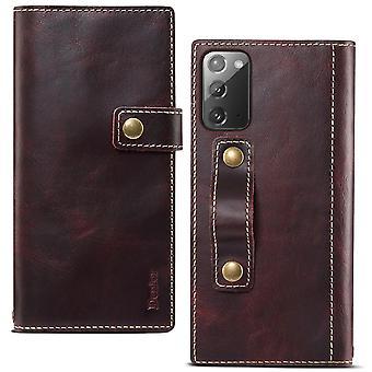 Slot per la custodia del portafoglio in vera pelle per iphone 12 5.4 winered pc21