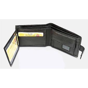 Primehide BASIC - Herre Lær Lommebok - RFID Blokkering - Svart / Brun - 895