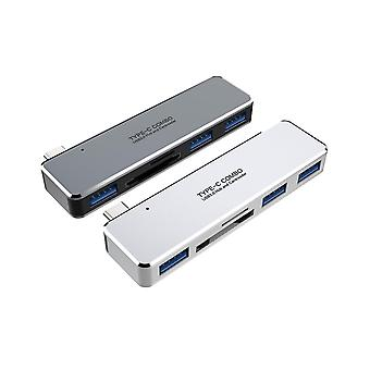 Type-c hub to usb3.0  dual card reader five-in-one multifunctional laptop expansion dock