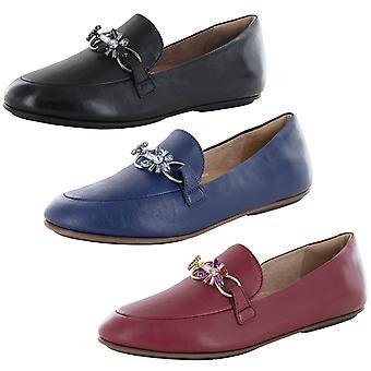 Fitflop Mujer Lena Blossom Cadena de Cuero Loafer Zapatos