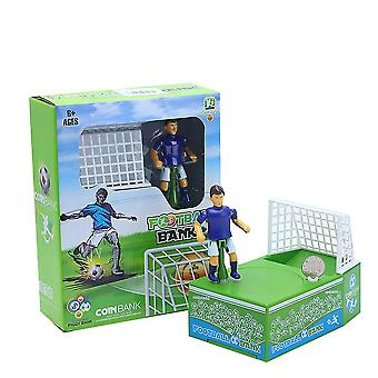 New Playing Football Piggy Bank Coin Money Box World Cup Depository Machine ES9351
