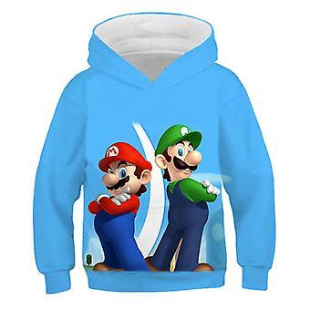 3d Print, Super Mario Cartoon Hooded Sweatshirt voor Set-11