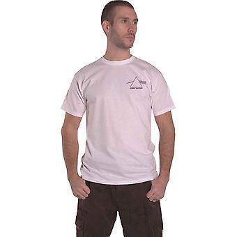 Vaaleanpunainen Floyd T-paita Moon Prism Band logo virallinen mens valkoinen