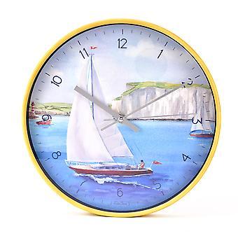 By The Seaside Clock - Segelboot bei Dover von Finola Stack