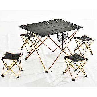 Ulkona taitettava pöytätuoli taittuva camping vaellus kiipeily piknik kala kannettava (1kpl oranssi
