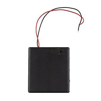 Πλαστικός κάτοχος κιβωτίων κάλυψης μπαταριών με το διακόπτη on/off για τις μπαταρίες 4 X Aa