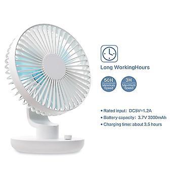 Usb Rechargeable Fan Silent Portable Wentylator Regulowany wentylator USB