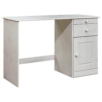 vidaXL skrivebord med skuffer 110x50x74 cm massivt fyrretræ