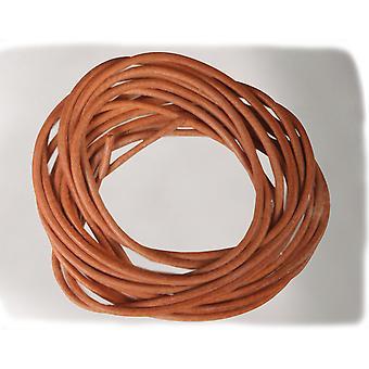 2 x 1m beige ekte skinn 1,5 mm ledning for voksne håndverk   Garn og elastisk