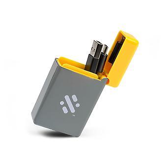 Flip - Infällbar 3-i-1 laddningskabel - Gul