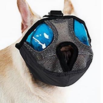 Boca corta ajustable Nariz plana Para mascotas Perro Boca Cubierta Bozales Anti-mordeduras Ladridos Cómodos