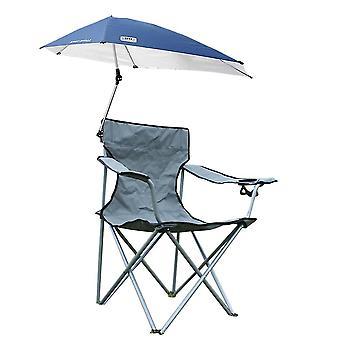 Cadeiras de acampamento com cadeira reclinável dobrável portátil de dossel (55x52x160cm)(Cinza)