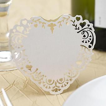 Vintage Romance - Free Standing Laser Cut Place Card - Ivory