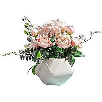 מיני פרחים מזויפים אמבטיה פרחים מלאכותיים פרחים חיצוניים פשוט ורענן