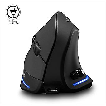 Right Hand 2.4ghz Wireless Ergonomic Charging Vertical Mouse, Vertical Mouse Wireless, With 3 Adjustable Dpi, 6 Buttons, (black)
