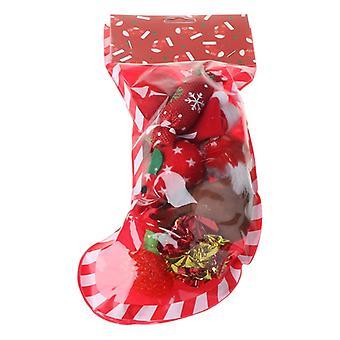 חיית מחמד חג המולד שילוב חתלתול גירוד גרב צורה צעצוע רך קטיפה שקית חתול מגרד טחינת בידור אינטראקטיבי לחיות מחמד משחק אספקה