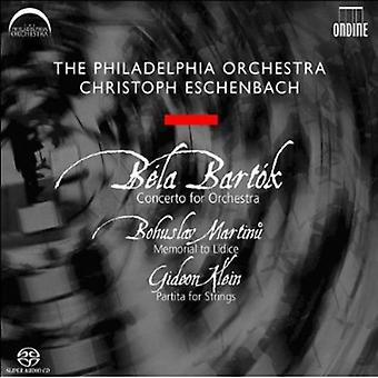Bartok/Martinu/Klein - Bart K: Concerto for Orchestra; Martinu: Memorial to Lidice; Klein: Partita for Strings [SACD] USA import