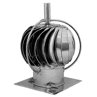 150mm Stainless Steel Rotating Spinning Chimney Cowl External Bearing Additional Roof Plate