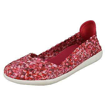 Dames Down To Earth Flat Slip op geweven schoenen F80218 *** foto's wachten ***