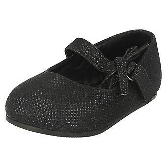 Spot de filles sur la chaussure plate avec Glitter Bow décoration