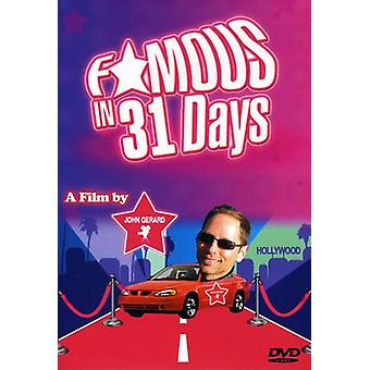 Famous in 31 Days [DVD] USA import