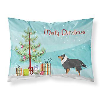 Sheltie/Shetland Sheepdog Merry Christmas Tree Fabric Standard Pillowcase