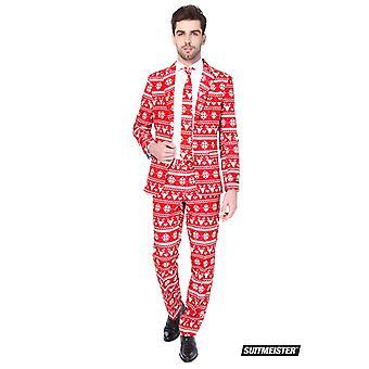 Christmas red Nordic Christmas suit Suitmeister slimline economy 3-piece set
