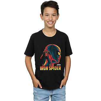 Marvel мальчиков Мстители бесконечности войны железо паук символов футболку