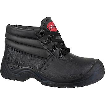 Centek Mens FS83 Leather S1 Work Safety Boot Black