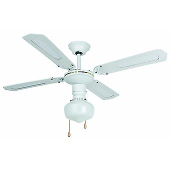 Faro ceiling fan Aruba White with lighting and pull cord 106 cm / 42