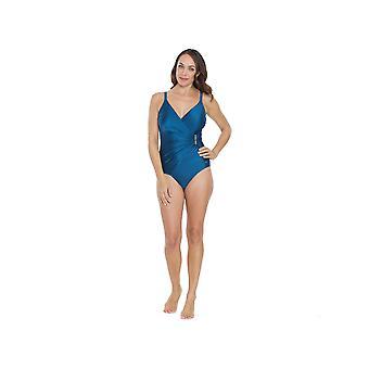 Seaspray SY006185A Women's Blue Long Length Costume One Piece Swimsuit