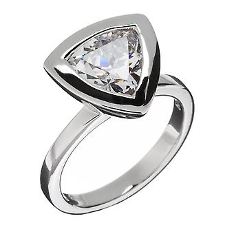 Orphelia Silver 925 Ring driehoek duidelijk zirkonium ZR-3652