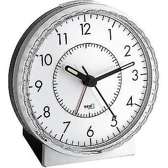 TFA Dostmann 60.1010 Quarz Wecker Silber Alarmmal 1 fluoreszierende Hände
