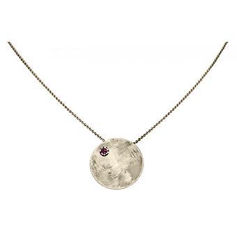 GEMSHINE Halskette Anhänger massiv 925 Silber mit rotem Granat Edelstein