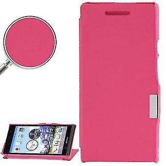 Mobiltelefon tilfælde pose for Huawei Ascend P6 pink børstet