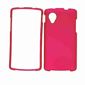 Illimité cellulaire Snap-On Case pour LG Nexus 5 (caoutchouté miel chaud rose)