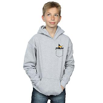 Looney Tunes Boys Daffy Duck Faux Pocket Hoodie