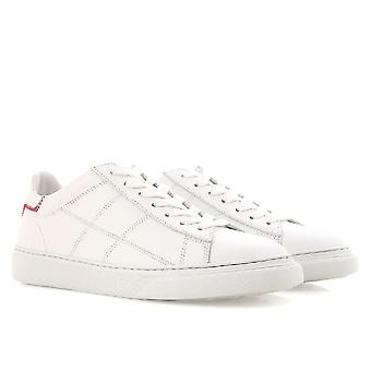 Hogan lave top sneakers damesko i hvid læder