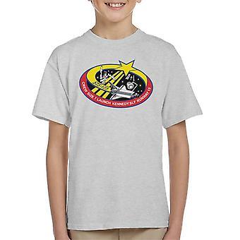 Camiseta de la NASA STS 123 transbordador Endeavour misión parche infantil