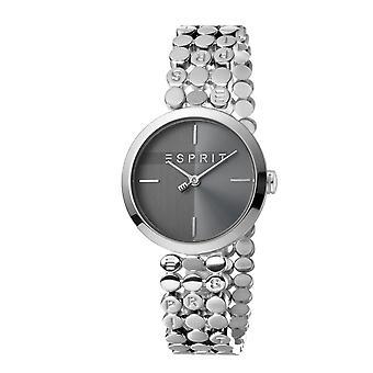 ESPRIT Damenuhr Uhren kostenlos Armband Schwarz Silber Quarz Glückseligkeit